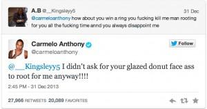 Carmelo Tweet