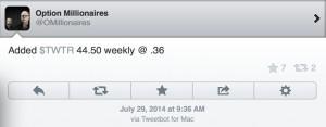 Twitter calls OM 7-29-14