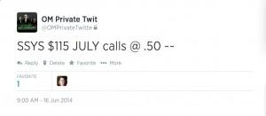 SSYS june 16th calls