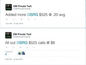 ISRG calls