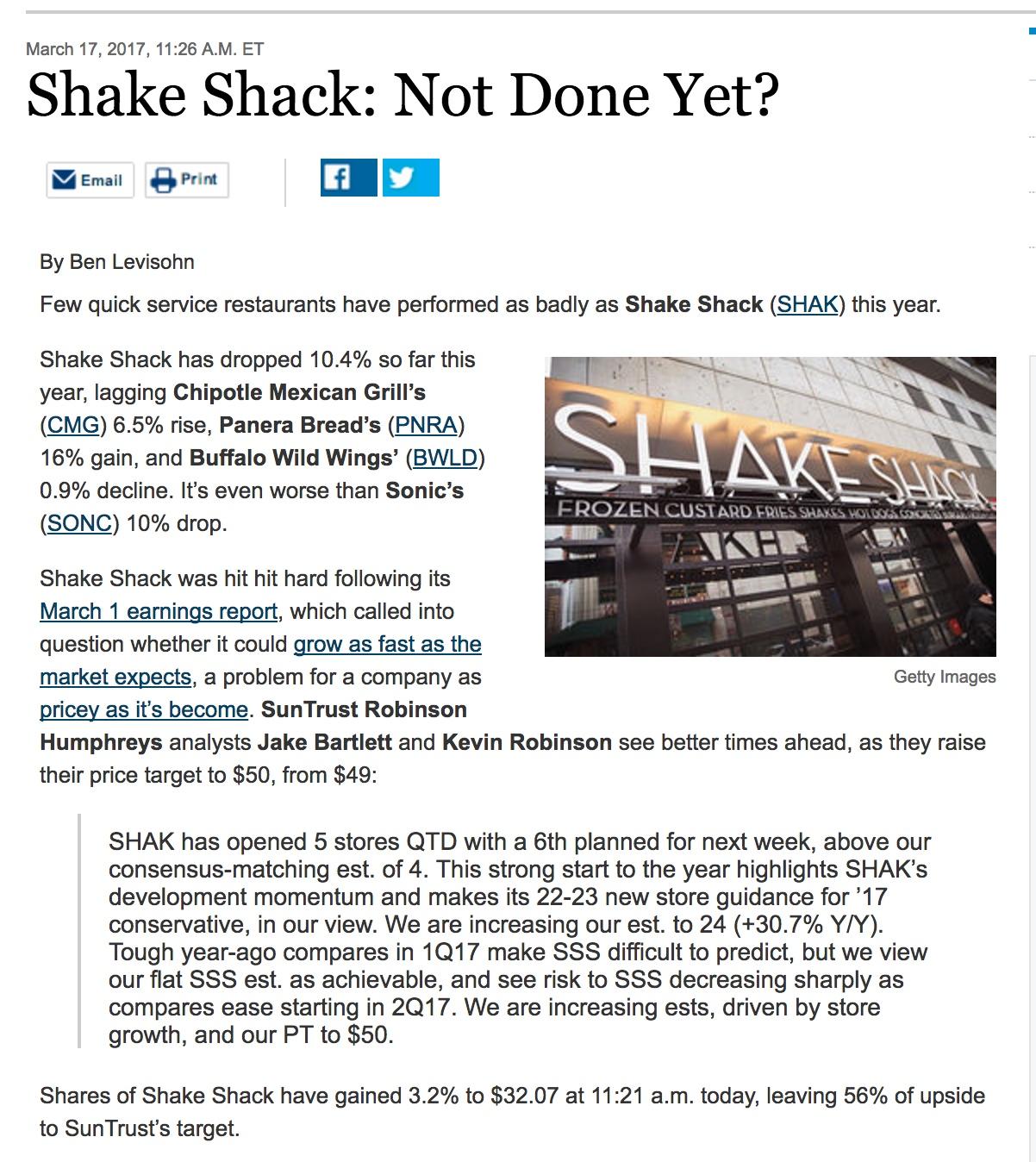 SHAK done?